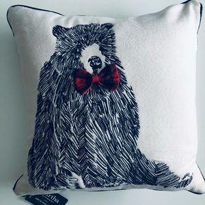 Martha Stewart Bow Tie Bear Large Throw Pillow